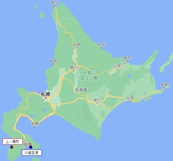 北海道上ノ国町マップ